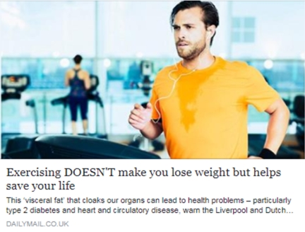 Exercising doesn't help you lose weight but it can save your life
