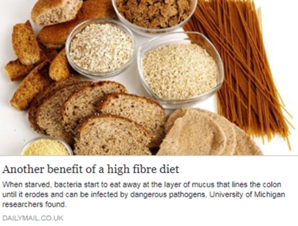 Another benefit of a high fibre diet