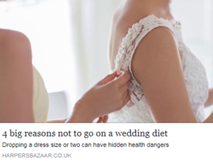 4 big reasons not to go on a wedding diet