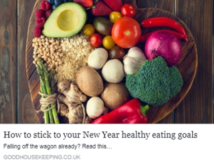 How to stick to your new year healthy eating plan