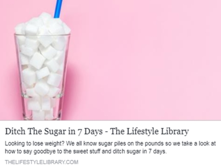 Ditch the sugar in 7 days